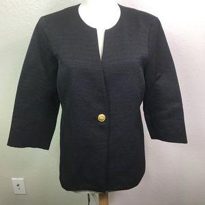 Eileen Fisher Dressy Jacket Black Single Button M